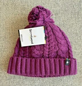 NWT SMARTWOOL SKI TOWN CABLE KNIT POM BEANIE HAT 3 COLORS