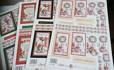 4 x A4 Sheets Of Christmas die cut decoupage STACKERS #2 By Buzzcraft