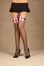 Diamond Net Thigh High W/Bow & Spider, Halloween, Stockings, Elegant Moments