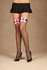 Diamond Net Thigh High W/Bow & Spider, Halloween, Stockings, Elegant Moments