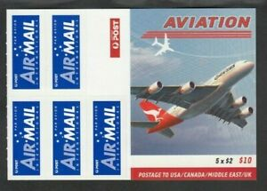 2008 AVIATION $10 BOOKLET, Mint Never Hinged