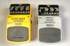 Behringer BUC400 UO300 Effects Pedals Set of 2 ultra bass chorus/ultra octaver