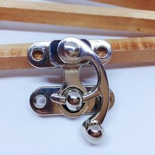 Fermoir pivotant à droite pour sac - Nickelé - 39 x 45 mm