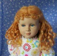 KAIS LORY Honey Blond Full Cap Doll Wig Size 14-15 100% MOHAIR - Long Wavy