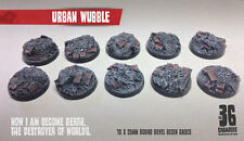 Urban Wubble 10 x 25mm round bevel resin bases