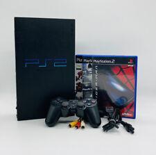 Playstation 2 PS2 FAT Schwarz Konsole + Controller + 3 Gratis Spiele & Kabel