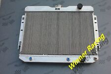 2 Rows aluminum Radiator for Chevy Car 230/235/283/327/348 L6/V8 AUTO 1960-1965