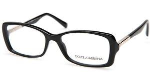 New Dolce&Gabbana DG 3156 501 BLACK EYEGLASSES FRAME 53-16-135mm Italy