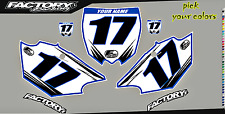 Yamaha YZF250-450 14-16  Pre Printed Number plate Backgrounds Accel SERIES