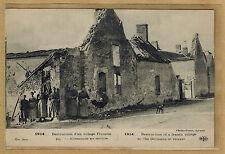 Cpa militaire guerre destruction d'un village français par les allemands wn1144