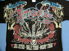 NEW THROWDOWN SKULL ROSES MENS T-SHIRT LARGE