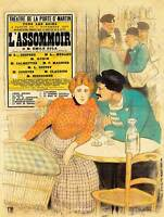 ADVERT THEATRE STAGE PLAY L'ASSOMMOIR ZOLA FRANCE CAFE ART PRINT POSTERBB8004B