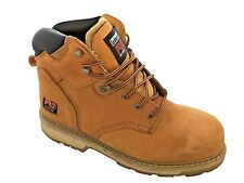Timberland PRO 33031 Pit Boss Steel Toe Work Boots Wheat Nubuck Mens SZ 11