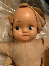 Vintage 1950s Doll with Plastic Face Cloth Body P78