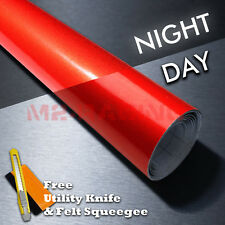 """*36""""x48"""" Reflective Red Vinyl Wrap Sticker Decal Graphic Sign Car Adhesive Film"""