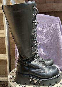 new rock boots 6-6.5 Euro Size 40  Goth,Biker, Heavy Metal