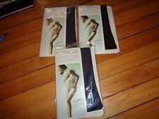 Vintage Berkshire Stockings for Garterless Girdle Combos Lot of Three Black