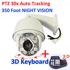 HD 30x Auto Tracking SONY CMOS NIGHT VISION PTZ Dome CCTV Camera 3D Keyboard