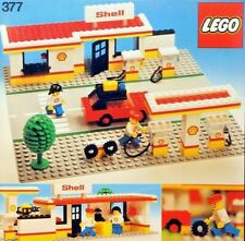 Lego Shell 377 Garage, Petrol Tanker 671, Petrol Pumps Set 6010 Vintage Bundle