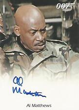 "James Bond 50th Anniversary S1 - Al Matthews ""Master Sergeant"" Autograph Card"