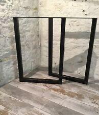 2 x fatto a mano in acciaio grezzo upcycle scrivania Bench le gambe del tavolo stile industriale