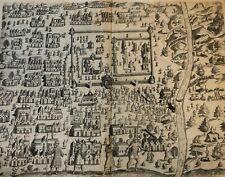 "De Bry - ""A Description of the Royal town of Kandy""- Original - 1605 - Sri Lanka"