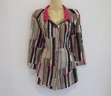 Stunning luxe cotton silk tailored shirt by high-end brand RESORT REPORT sz14