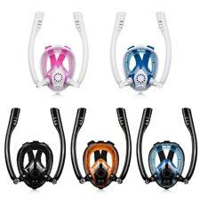 Double Tube Dry Dive Full Face Snorkel Mask Anti Fog Breathe Free Design