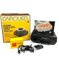 Kodak Carousel 750H 35mm Slide Projector w/ Remote Box Manual TESTED
