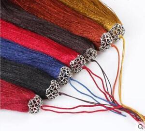 V11 (1,10 pcs) 17cm Long tassel Metal Cap(use for earring bookmark runner dress)