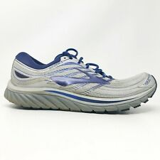 Brooks Mens Glycerin 15 1102581D046 Grey Blue Running Shoes Lace Up Size 11.5 D