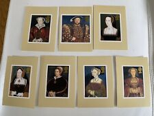 1997 The Great Tudor PHQ185 Set of 7 Royal mail postcards Henry VIII