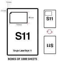 S11 INTEGRATED ADDRESS LABELS A4 Sheets EBay Amazon Click and Drop Invoice paper
