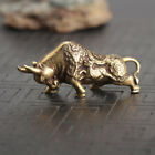 Chinese Old Antique Collectible Brass cattle Pendant hand piece statue