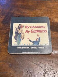 Guinness Wooden Beer Mat 1994 My Goodness My Guinness