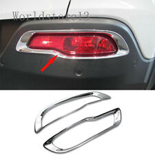 fit 2014-2018 Jeep Cherokee Chrome Rear Tail Bumper Fog light lamp Cover Decor