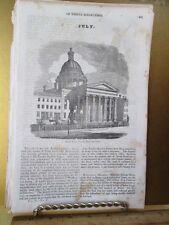 Vintage Print,SECOND BAPTIST CHURCH,American Magazine,19th Century