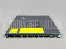 CISCO WS-C4948-S + 2x PWR-C49-300DC Catalyst 4948 Switch 48Ports