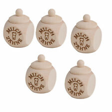 5 x Holzdose Dose Zahndose Milchzahndose mit Schraubdeckel Milchzähne H 6 cm