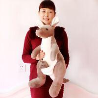 Giant Big Kangaroo Stuffed Animal Plush Soft Toys Doll Pillow Kids Birthday Gift