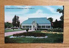 Vintage Postcard, Toledo Ohio, Conservatory at Walbridge Park - Postmark 1914