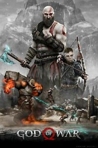 God of War Kratos and Atreus Game Poster 24X36 inches