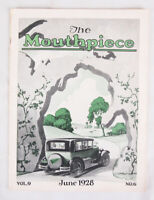 RARE The Mouthpiece Magazine, June 1928, Michigan Bell Telephone, Art Deco