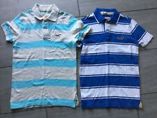 Hollister Mens Striped Short Sleeve Polo Style T-Shirts Size S. Great Condition.