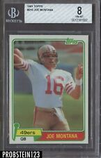 1981 Topps Football #216 Joe Montana San Francisco 49ers RC Rookie HOF BGS 8