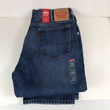 Levis 514 Jeans Mens SIZE 38 X 32  DK BLUE Straight Leg Regular Fit Low Rise NWT