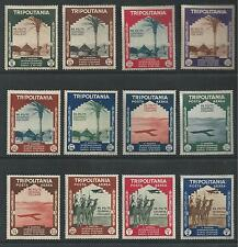 TRIPOLITANIA, ITALY # 73-78, C43-48 MHR COLONIAL ART EXHIBITION
