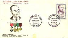LETTRE PREMIER JOUR JACQUES RENOUVIN PARIS 1961