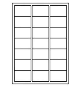 10 x A4 Sheets of 21 Laser Inkjet Labels - 210 WHITE Address Labels