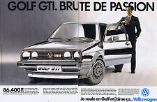 PUBLICITE ADVERTISING 054 1988 VOLKSWAGEN la Golf GTI  (2 pages)